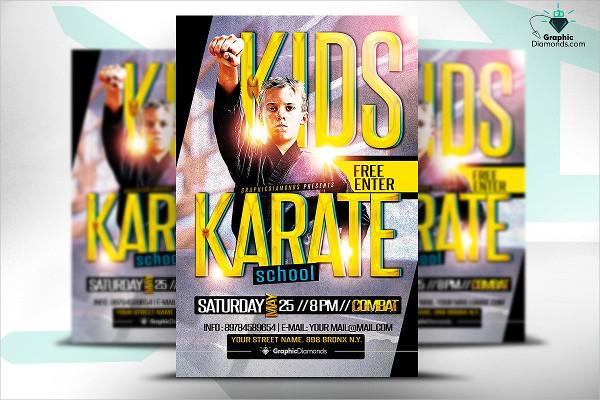 Kids Karate Flyer Template