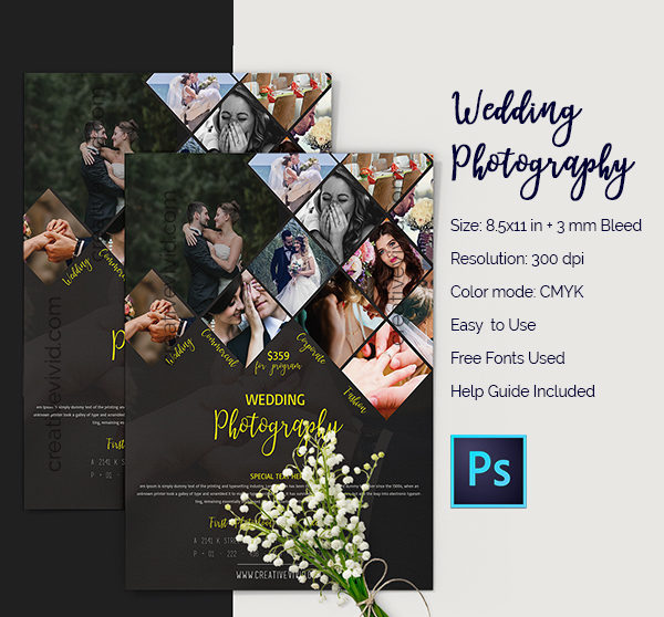 Free Download Wedding Photography Flyer