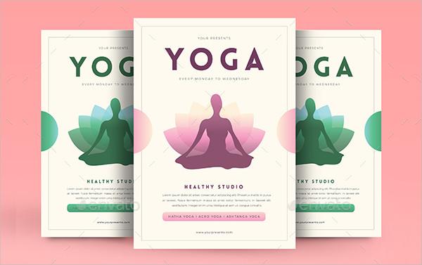 Modern Advertisement Yoga Flyer