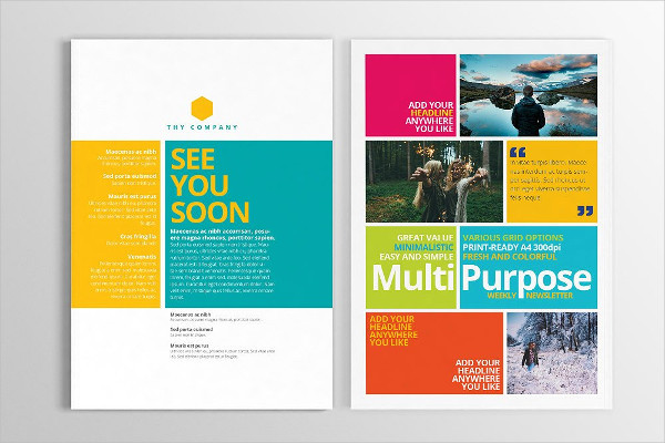 Multipurpose Print Newsletter Template