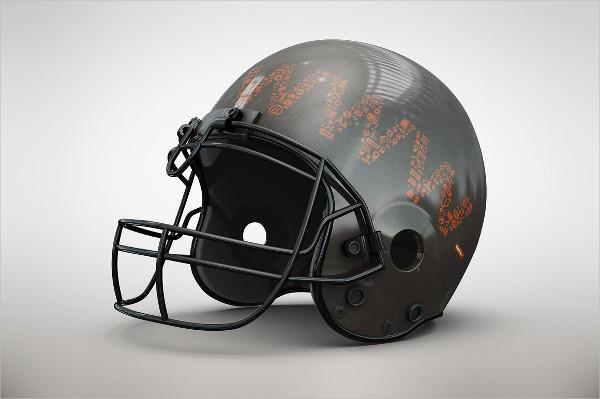 Promotional Football Helmet Mockup