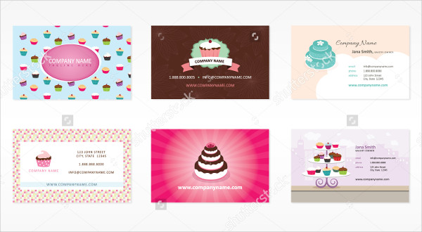 Set Of Bakery Business Cards