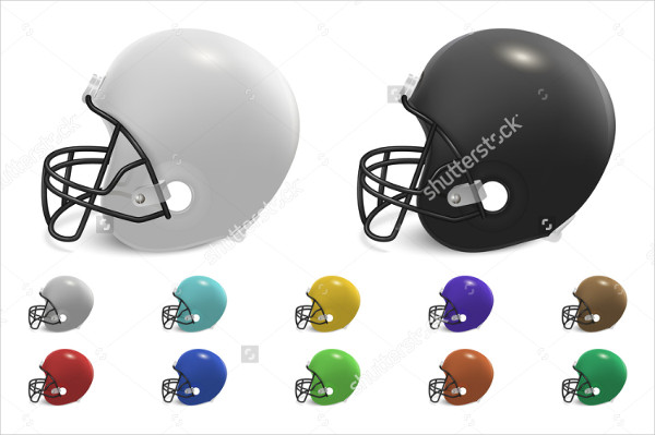 Set of Football Helmets Mockup