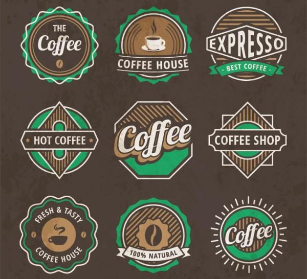 Vintage Coffee Logos Free