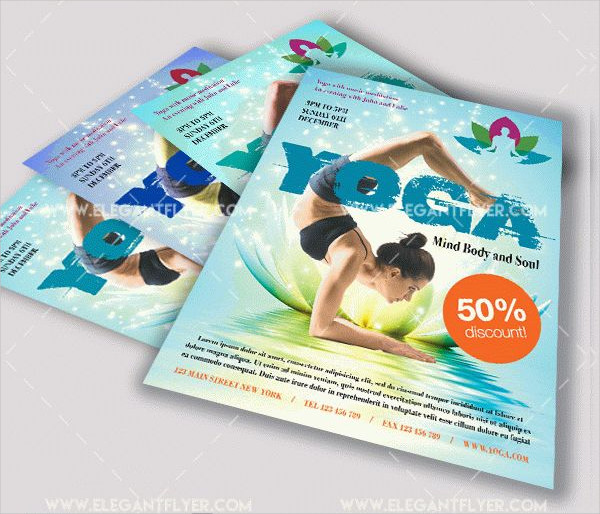 Yoga Free Flyer PSD Template