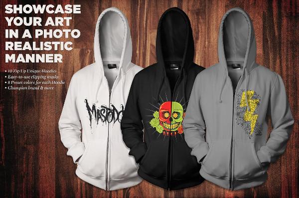 Zip-Up Hoodie Mockup Kit